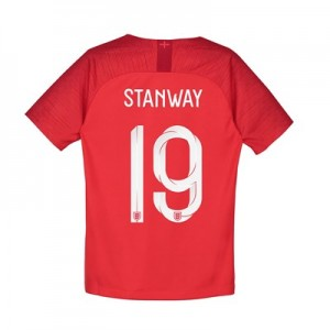 England Away Stadium Shirt 2018 - Kids with Stanway 19 printing