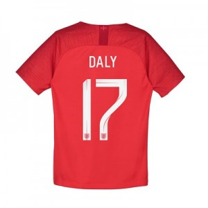 England Away Stadium Shirt 2018 - Kids with Daly 17 printing