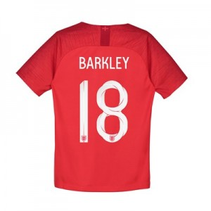 England Away Stadium Shirt 2018 – Kids with Barkley 18 printing
