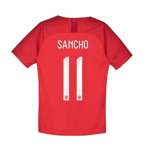 England Away Stadium Shirt 2018 – Kids with Sancho 11 printing