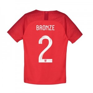 England Away Stadium Shirt 2018 - Kids with Bronze 2 printing