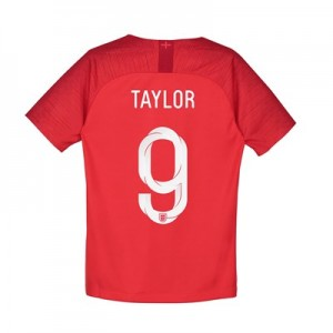 England Away Stadium Shirt 2018 - Kids with Taylor 9 printing