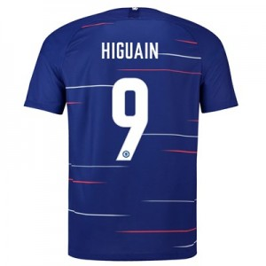 Chelsea Home Cup Stadium Shirt 2018-19 with Higuain 9 printing
