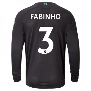 Liverpool Third Shirt 2019-20 - Long Sleeve with Fabinho 3 printing