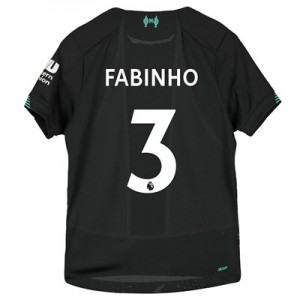 Liverpool Third Shirt 2019-20 – Kids with Fabinho 3 printing