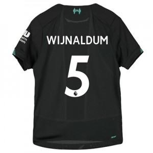 Liverpool Third Shirt 2019-20 – Kids with Wijnaldum 5 printing