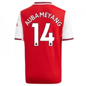Arsenal Home Shirt 2019-20 – Kids with Aubameyang 14 printing