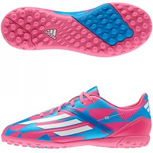 adidas F10 Astroturf Trainers – Kids. Pink