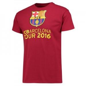 Barcelona 2016 Tour T-Shirt – Mens – Cardinal Red