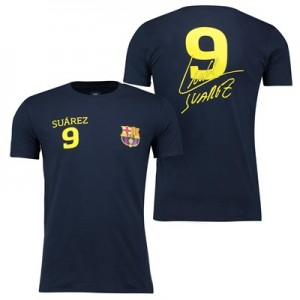 Barcelona 2016 Tour Player T-Shirt Suarez 9 - Mens - Navy