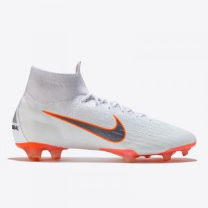 Nike Mercurial Superfly 6 Elite Firm Ground Football Boots - White