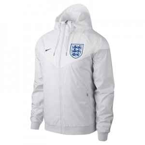 England Authentic Woven Windrunner Jacket – White
