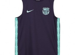 Barcelona Squad Sleeveless Training Top - Purple - Kids