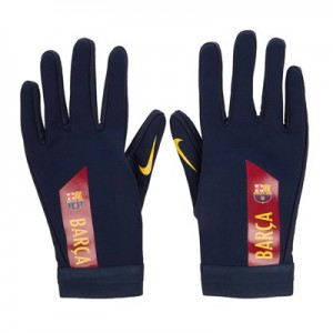 Barcelona Hyperwarm Academy Gloves - Dark Blue