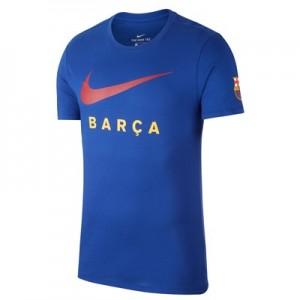 Barcelona Swoosh T-Shirt - Blue