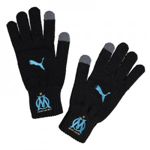 Olympique de Marseille Knitted Gloves – Black