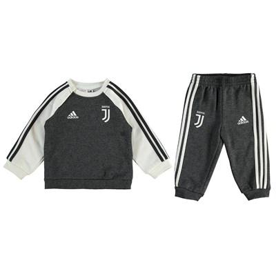 Juventus 3 Stripe Baby Jersey Set - Grey