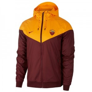 AS Roma Authentic Woven Windrunner – Red