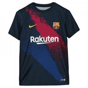 Barcelona Pre Match Training Top - Dk Blue - Kids