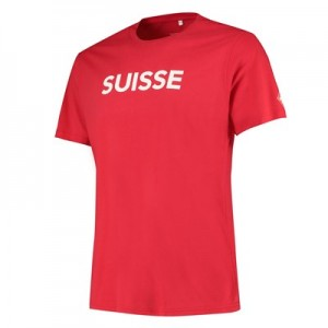 Nations League Swiss Flag T-Shirt – Game Red – Mens