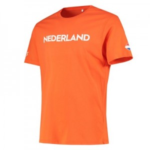Nations League Holland Flag T-Shirt - Orange - Mens
