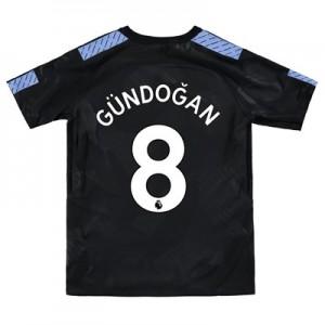 Manchester City Third Stadium Shirt 2017-18 – Kids with Gündogan 8 printing