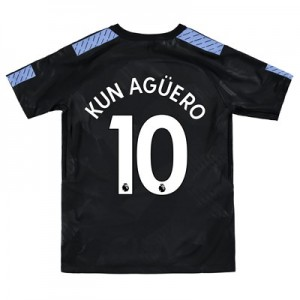 Manchester City Third Stadium Shirt 2017-18 - Kids with Kun Agüero  10 printing