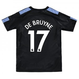Manchester City Third Stadium Shirt 2017-18 - Kids with De Bruyne 17 printing