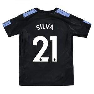 Manchester City Third Stadium Shirt 2017-18 - Kids with Silva 21 printing