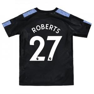 Manchester City Third Stadium Shirt 2017-18 – Kids with Roberts 27 printing