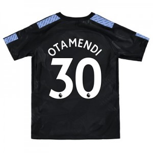 Manchester City Third Stadium Shirt 2017-18 - Kids with Otamendi 30 printing
