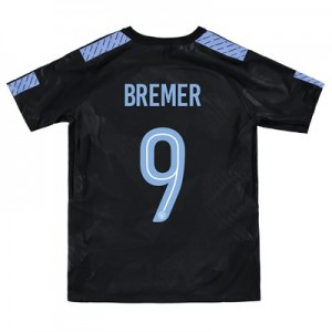 Manchester City Third Stadium Cup Shirt 2017-18 – Kids with Bremer 9 printing
