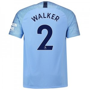 Manchester City Home Stadium Shirt 2018-19 with Walker 2 printing