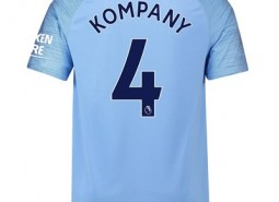 Manchester City Home Stadium Shirt 2018-19 with Kompany 4 printing
