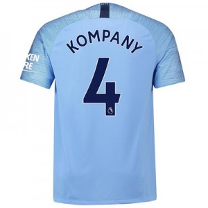 Manchester City Home Stadium Shirt 2018-19 with Kompany 4 printing