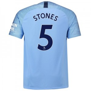 Manchester City Home Stadium Shirt 2018-19 with Stones 5 printing