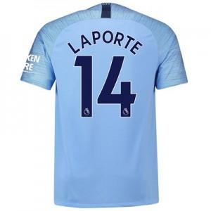 Manchester City Home Stadium Shirt 2018-19 with Laporte 14 printing