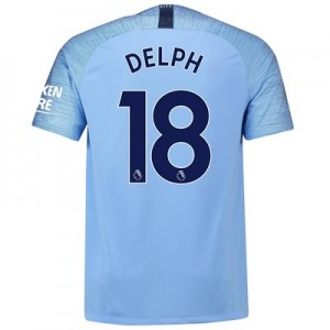 Manchester City Home Stadium Shirt 2018-19 with Delph 18 printing
