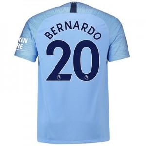 Manchester City Home Stadium Shirt 2018-19 with Bernardo 20 printing
