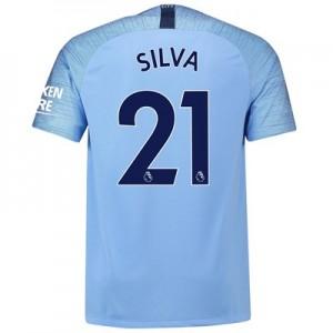 Manchester City Home Stadium Shirt 2018-19 with Silva 21 printing