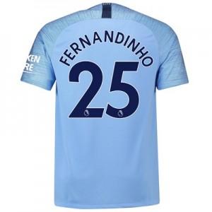 Manchester City Home Stadium Shirt 2018-19 with Fernandinho 25 printing
