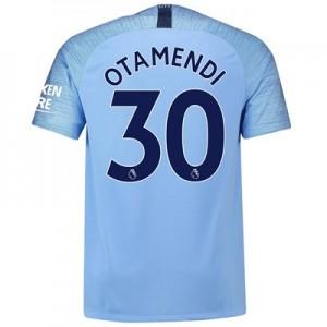 Manchester City Home Stadium Shirt 2018-19 with Otamendi 30 printing