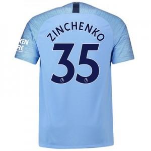 Manchester City Home Stadium Shirt 2018-19 with Zinchenko 35 printing