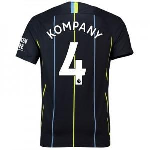 Manchester City Away Stadium Shirt 2018-19 with Kompany 4 printing