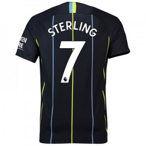 Manchester City Away Stadium Shirt 2018-19 with Sterling 7 printing