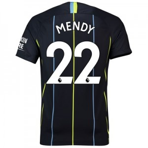 Manchester City Away Stadium Shirt 2018-19 with Mendy 22 printing