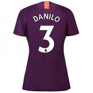 Manchester City Third Stadium Shirt 2018-19 - Womens with Danilo 3 printing