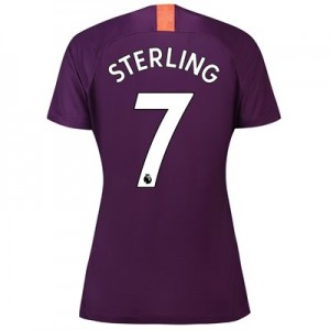 Manchester City Third Stadium Shirt 2018-19 – Womens with Sterling 7 printing
