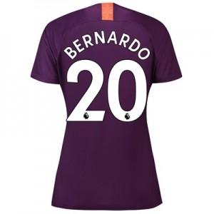 Manchester City Third Stadium Shirt 2018-19 - Womens with Bernardo 20 printing