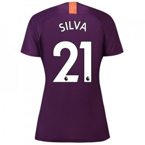 Manchester City Third Stadium Shirt 2018-19 - Womens with Silva 21 printing